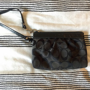 Canvas Coach Wristlet